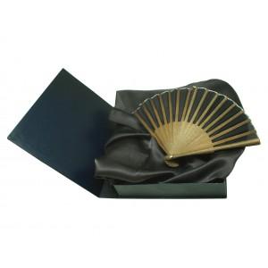 Set de abanico y foulard seda